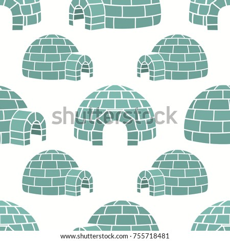 ice house igloo vector color