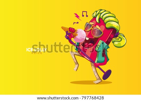 ice lolly music character funny