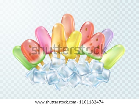 ice lolly on transparent