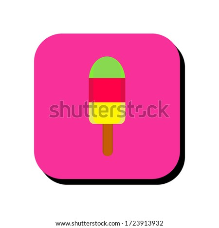 Ice lolly vector illustration icon. Ice lolly icon in two-dimensional shape. The concept of ice cream by using a ice lolly icon.