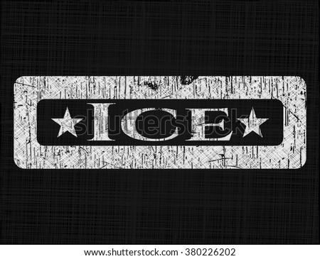 Ice on blackboard