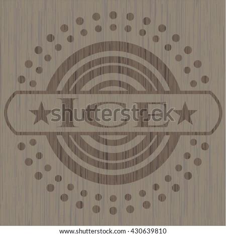 Ice realistic wood emblem