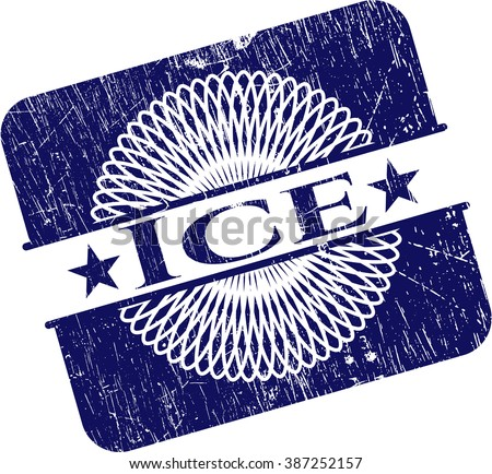 Ice rubber stamp