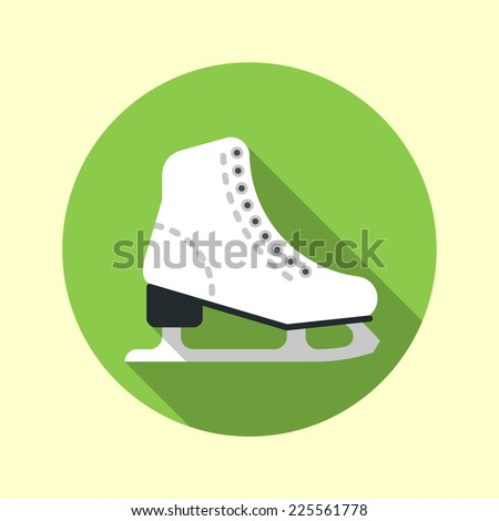 ice skate icon long shadow