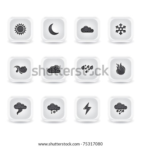 ice square weather icons