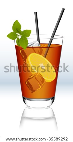Ice tea, vector illustration, EPS file included