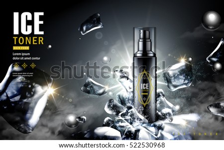 ice toner ad  contained in