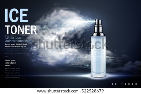 ice toner contained in light