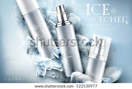 ice toner contained in silver
