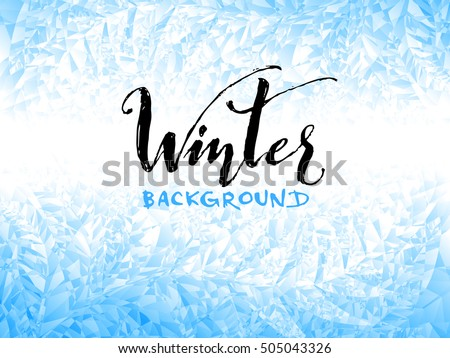 ice winter background