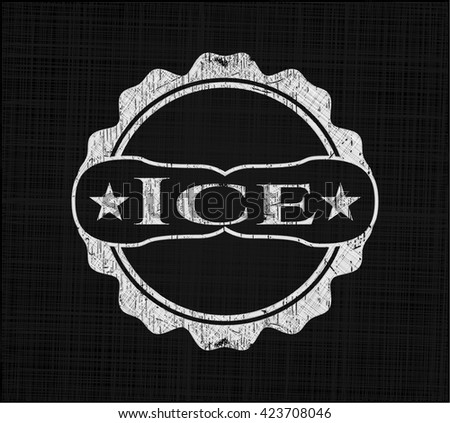 Ice with chalkboard texture