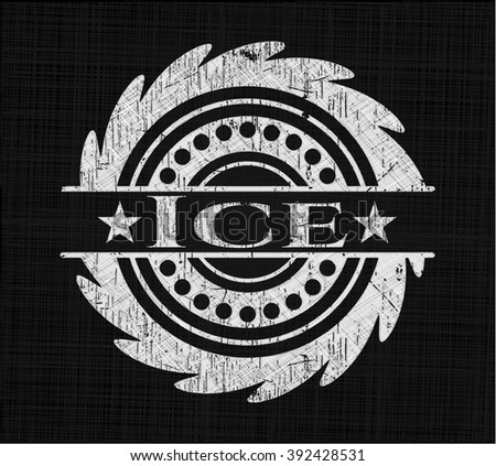 Ice written with chalkboard texture