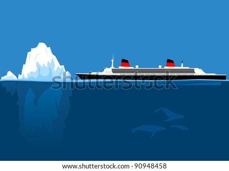 iceberg and ship