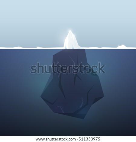 iceberg background underwater