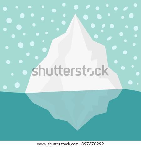 iceberg blue water snow flake