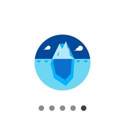 Iceberg flat icon
