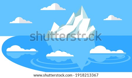iceberg floating in cold sea
