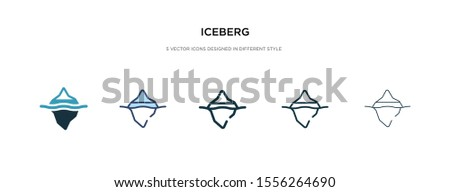 iceberg icon in different style