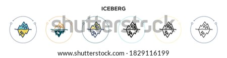 iceberg icon in filled  thin