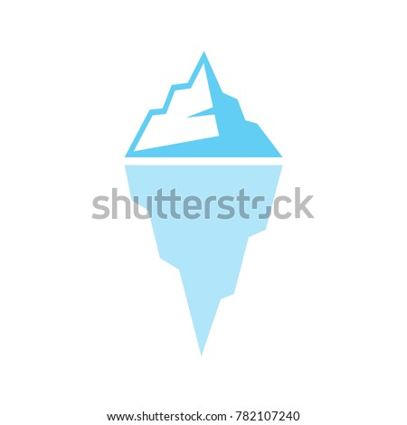 iceberg icon vector