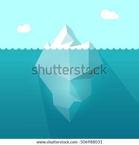 iceberg in ocean water vector