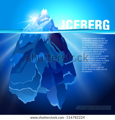 iceberg in water realistic
