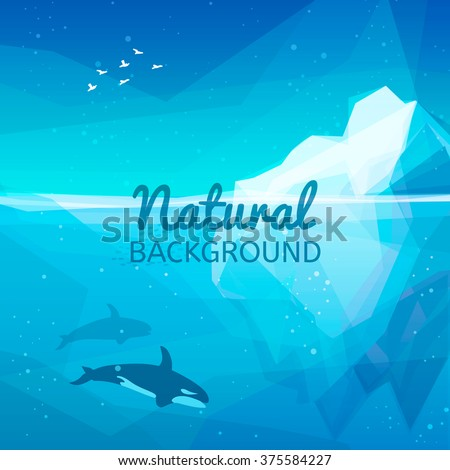 iceberg nature background