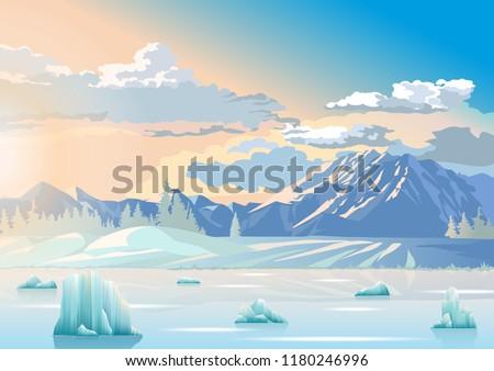 iceberg ocean ice arctic polar