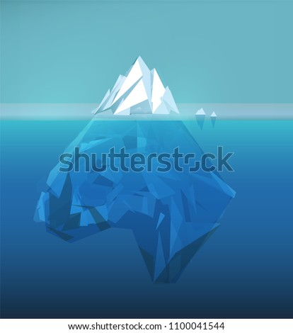 iceberg polygonal illustration