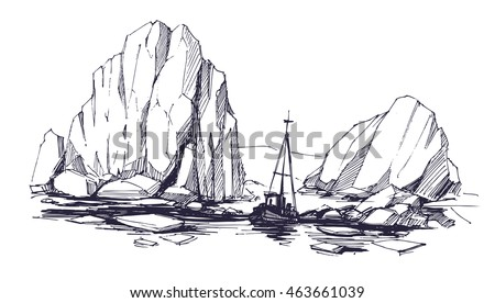 iceberg sketch vector