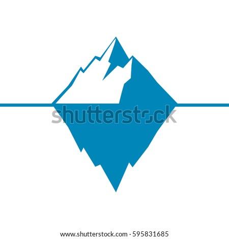 iceberg vector icon isolated on