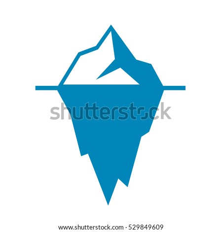 iceberg vector icon isolated on