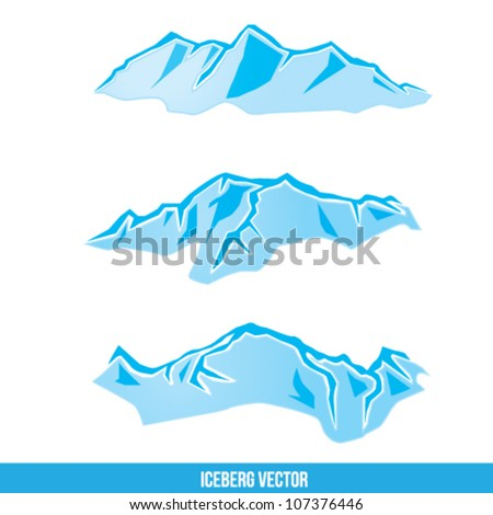 Iceberg Vector Illustration