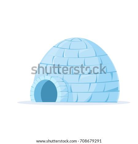 iced igloo vector vector