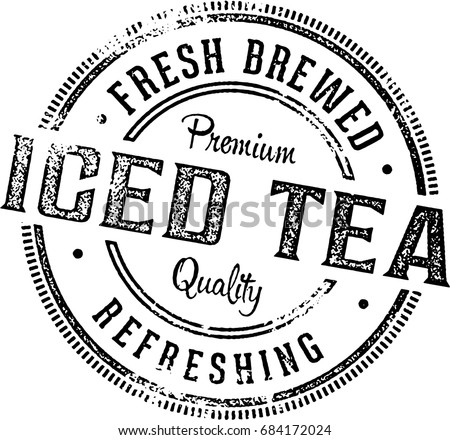 iced tea vintage menu design...