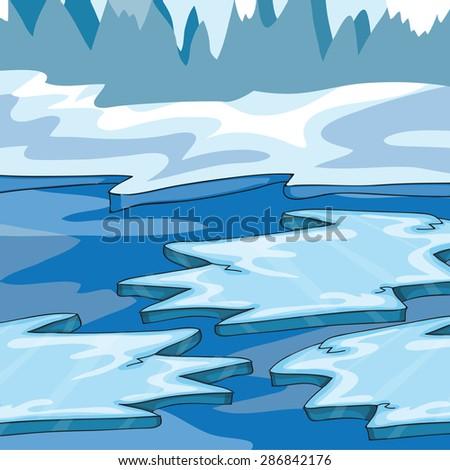 iceland   cartoon vector