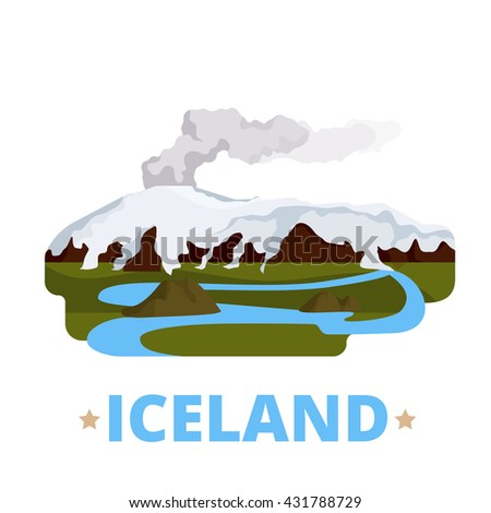 iceland country magnet design
