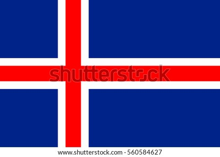 iceland flag official colors