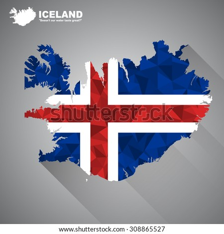 iceland flag overlay on iceland