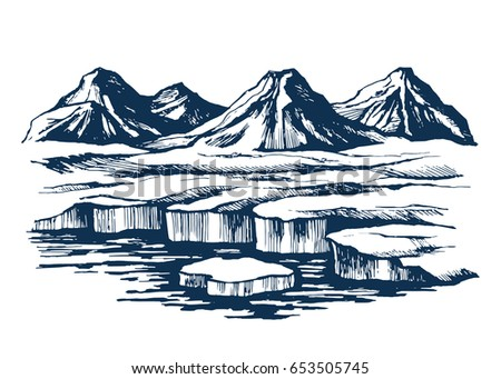 iceland group mountains on the