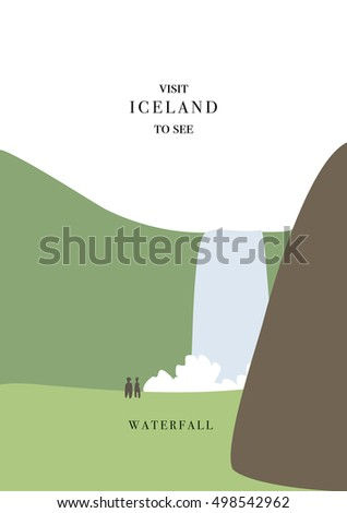 iceland inviting postcard