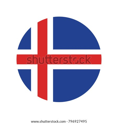 iceland national flag  iceland