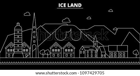 iceland silhouette skyline