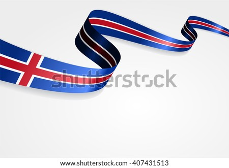 icelandic flag wavy abstract