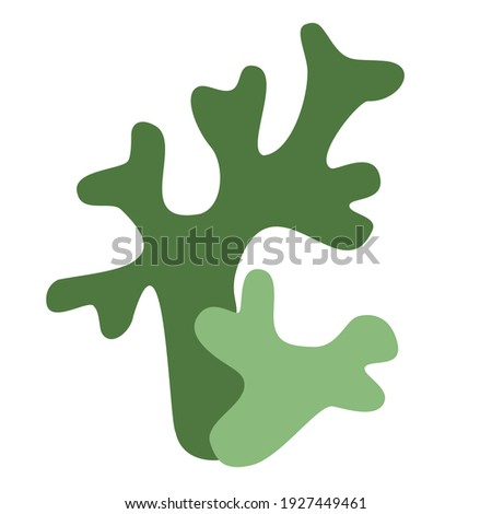 Icelandic green moss logo icon on white background Stock fotó ©