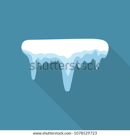 Icicle icon. Flat illustration of icicle vector icon for web