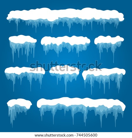 icicles and snowdrifts vector
