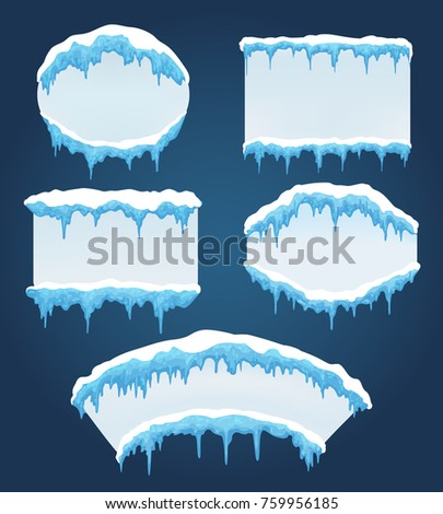 icicles boards vector frozen