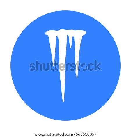 Icicles icon in black style isolated on white background. Weather symbol stock vector illustration.