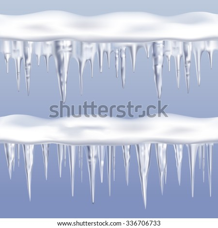 icicles tileable borders set on